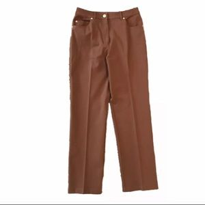 Sz 6 St. John Sport Brown Denim Trousers